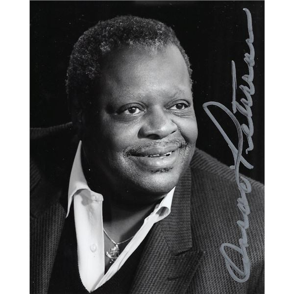 Oscar Peterson signed photo