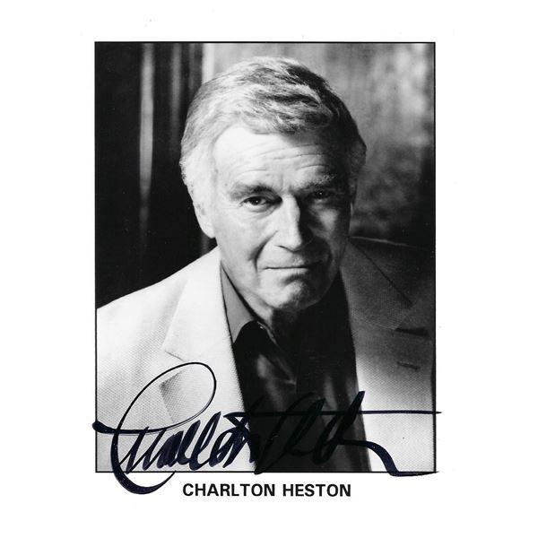 Charlton Heston signed photo