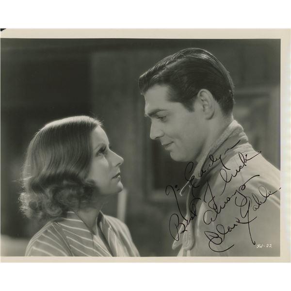 Clark Gable signed movie photo