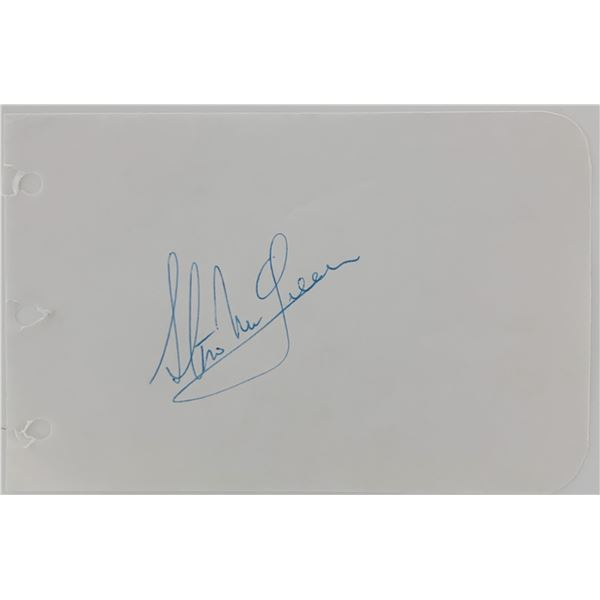Steve McQueen original signature