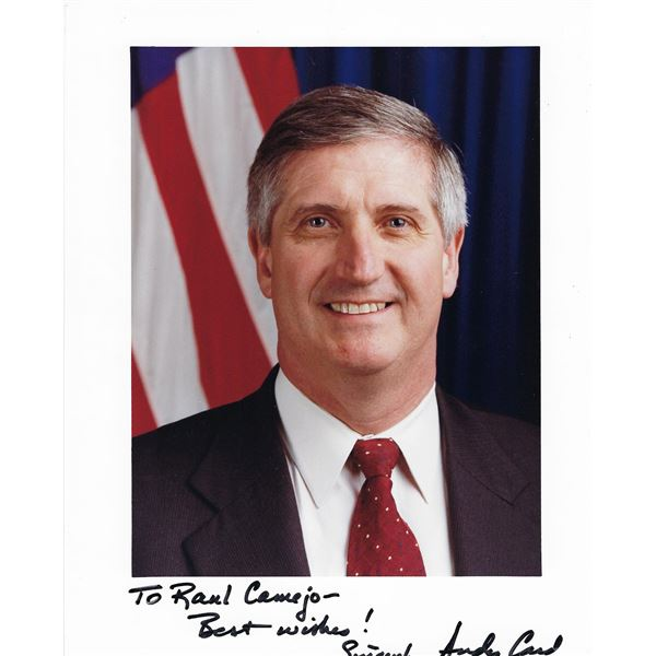 Chief of Staff Andy Card signed photo