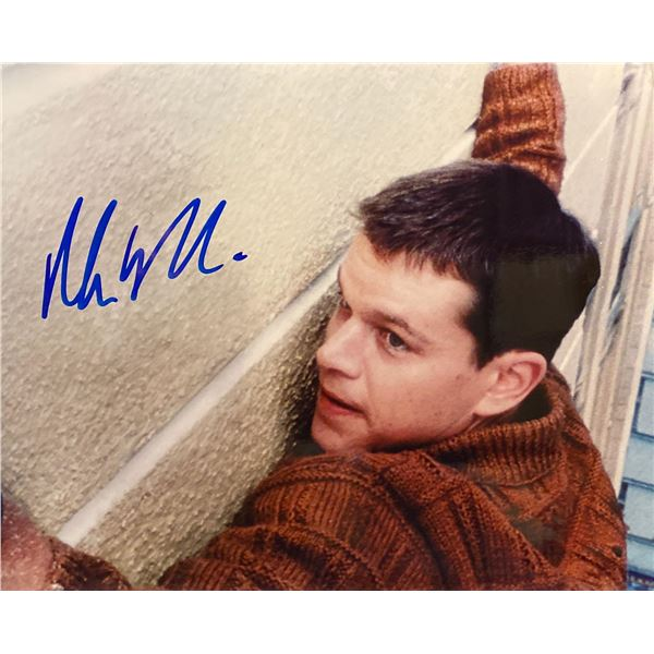 The Bourne Identity Matt Damon Signed Movie Photo