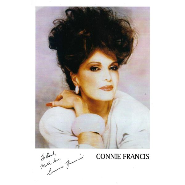 Connie Francis signed photo