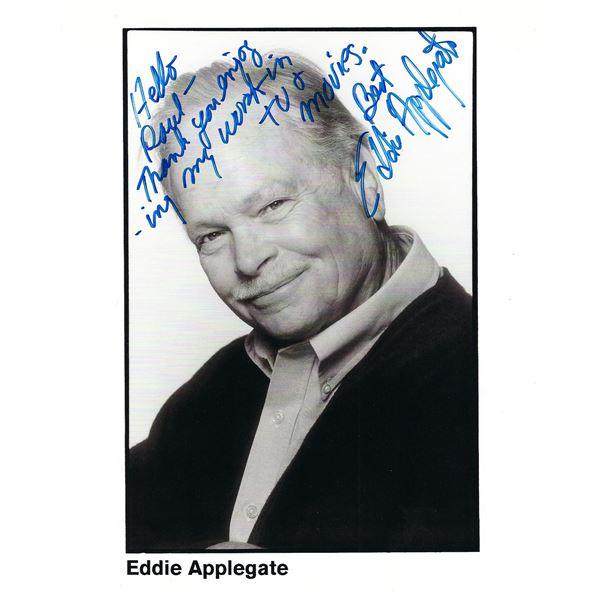 Eddie Applegate signed photo