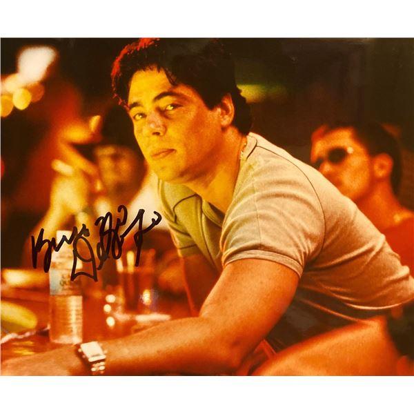Traffic Benicio del Toro Signed Movie Photo