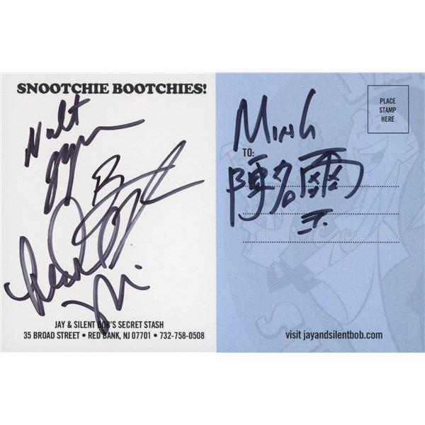 Jay and Silent Bob's Secret Stash signed post card