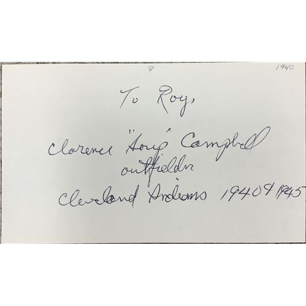 """MLB player Clarence """"Soup"""" Campbell original signature PSA DNA"""