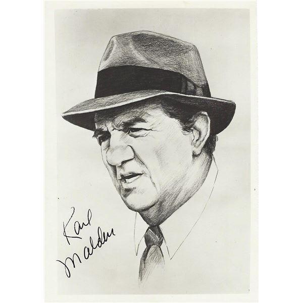 Karl Malden signed photo