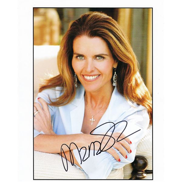 Maria Shriver signed photo
