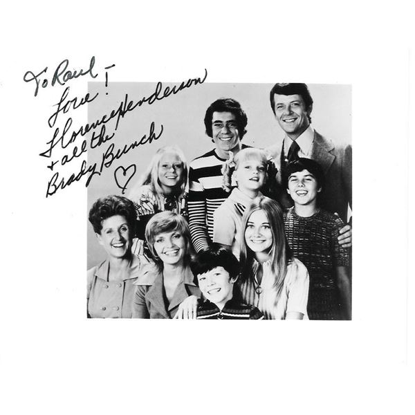 The Brady Bunch Florence Henderson signed card