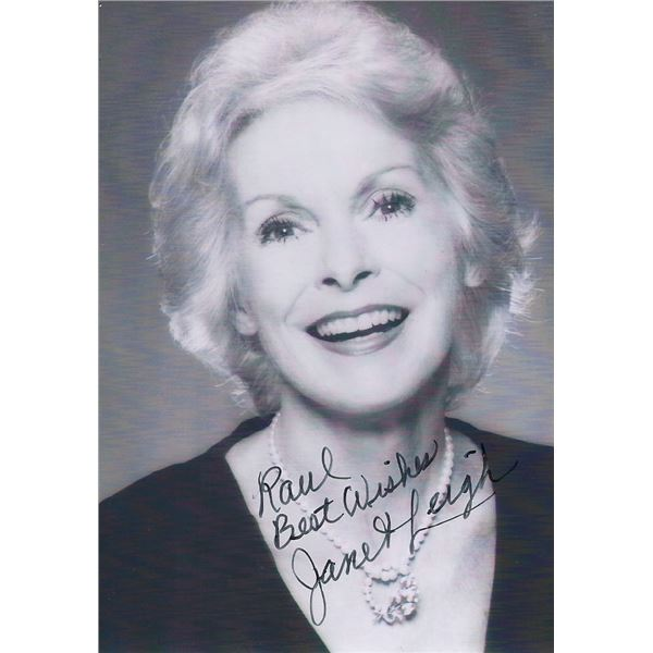 Psycho Janet Leigh signed photo