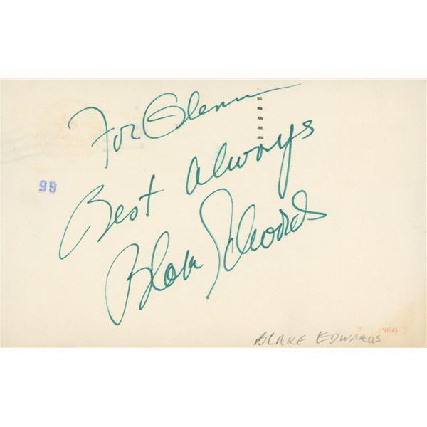 Blake Edwards signed note