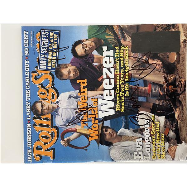 Weezer signed Rolling Stone Magazine