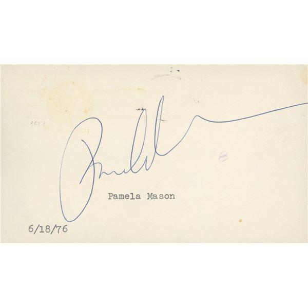 Pamela Mason original signature