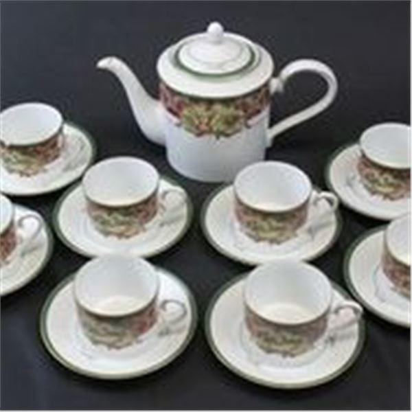 "Noritake ""Royal Hunt"" Tea/Coffee Set"