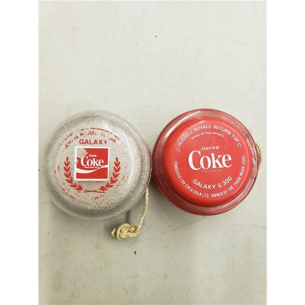 COCA COLA RED AND SILVER YOYO