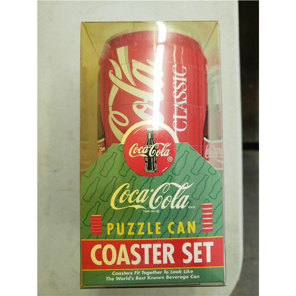 COCA COLA PUZZLE CAN COASTER SET. SIX COASTERS
