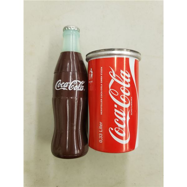 COCA COLA PENCIL SHARPENERS - ONE BOTTLE-ONE CAN