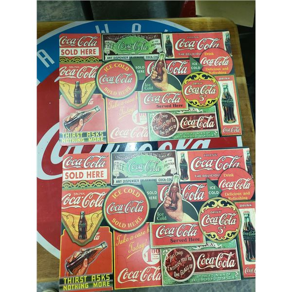 TWO COCA COLA PLACEMATS. BOTH REVERSABLE
