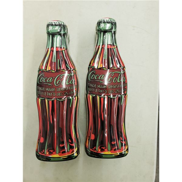 TWO COCA COLA BOTTLE TINS