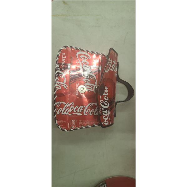 HANDBAG MADE OF COCA COLA CANS