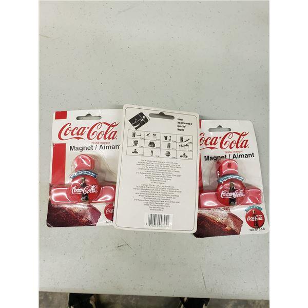 COCA COLA CLIP MAGNETS QTY 3