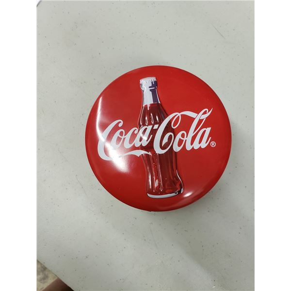 COCA COLA TIN WITH NOTE PADS