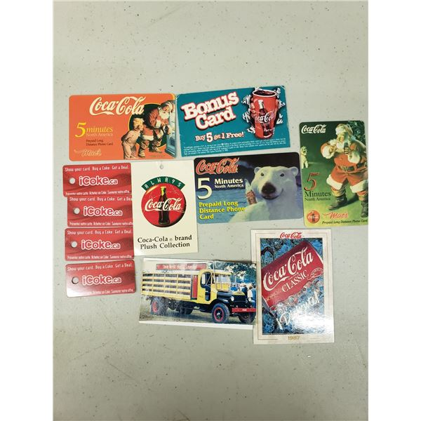 VARIETY OF COCA COLA TAGS AND PROMOTIONAL TAGS