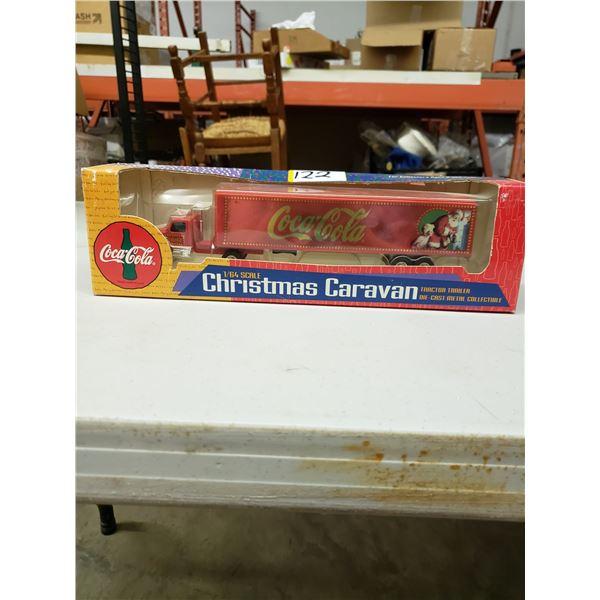 COCA COLA CHRISTMAS CARAVAN 1/6 SCALE TRACTOR TRAILER DIE CAST