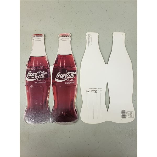 TWO COCA COLA BOTTLE POST CARDS
