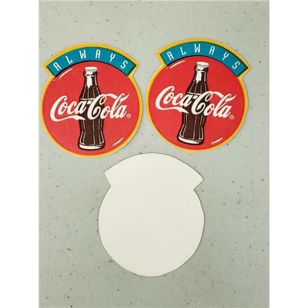 """THREE SMALL """"ALWAYS COCA COLA"""" PAPERS"""