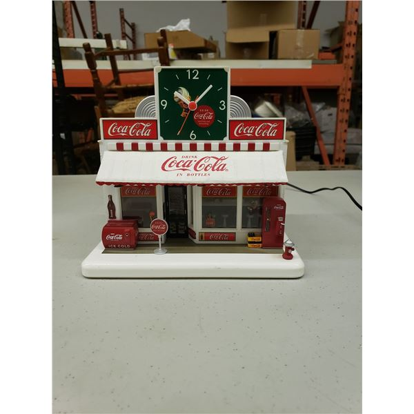 COCA COLA DINER STAND WITH CLOCK