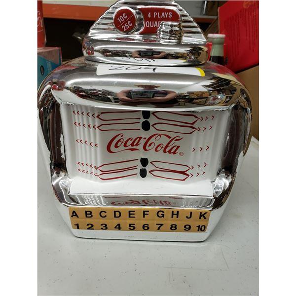 COCA COLA JUKE BOX COOKIE JAR