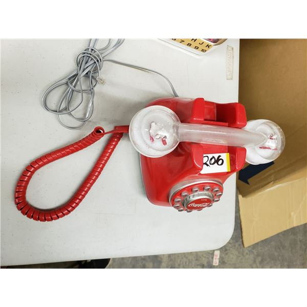 COCA COLA TELEPHONE WITH SNOW GLOBE DOMES