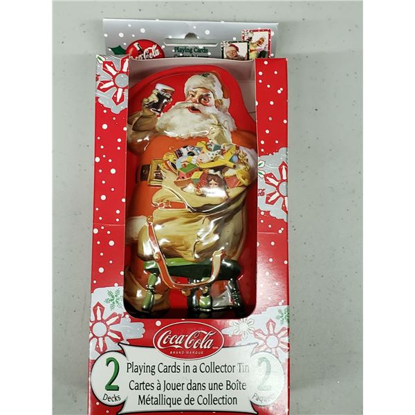 COCA COLA DOUBLE DECK CARDS IN TIN