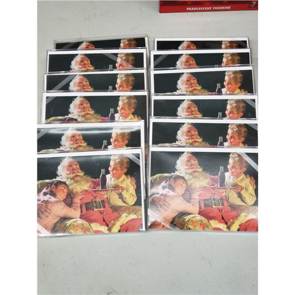 12 PACKS OF COCA COLA HOLIDAY CARDS 7 PER PACK