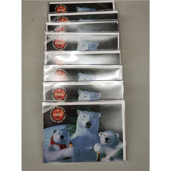 8 PACKS OF COCA COLA CARDS 7 PER PACK