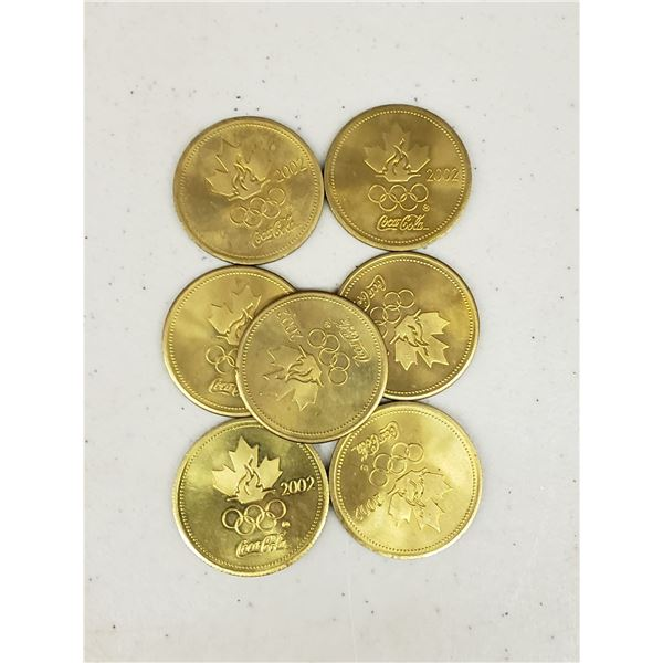 SEVEN 2002 COCA COLA OLYMPIC COINS