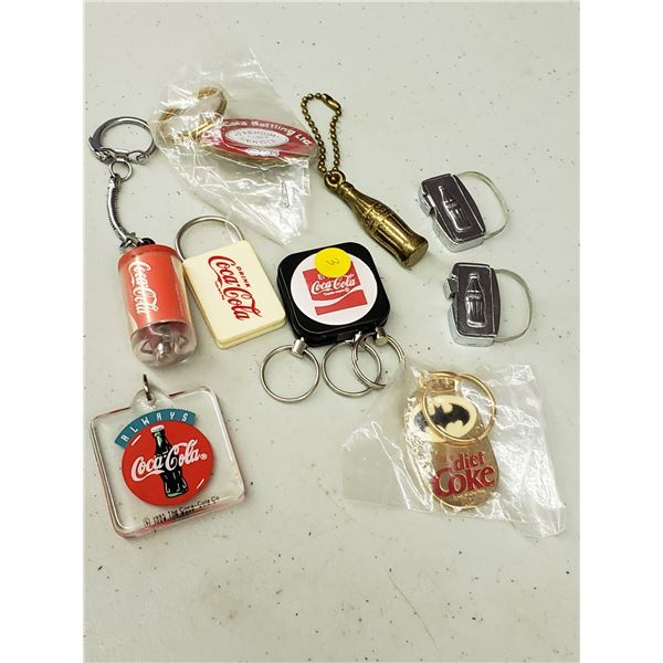 VARIOUS COCA COLA KEYCHAINS PLEASE SEE IMAGES
