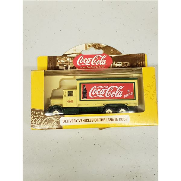 COCA COLA DIE CAST DELIVERY VEHICLES OF THE 1920'S AND 30'S. 1937 SCAMMELL 6 WHEELER