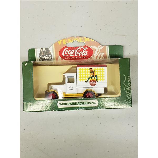 COCA COLA DIE CAST WORLDWIDE ADVERTISING'S 1928 CHEVROLET BOX VAN