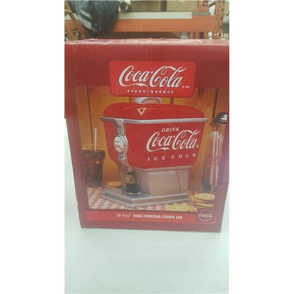COCA COLA BRAND SODA FOUNTAIN COOKIE JAR