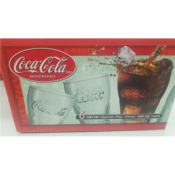 COCA COLA BRAND SET OF 6 GLASSES