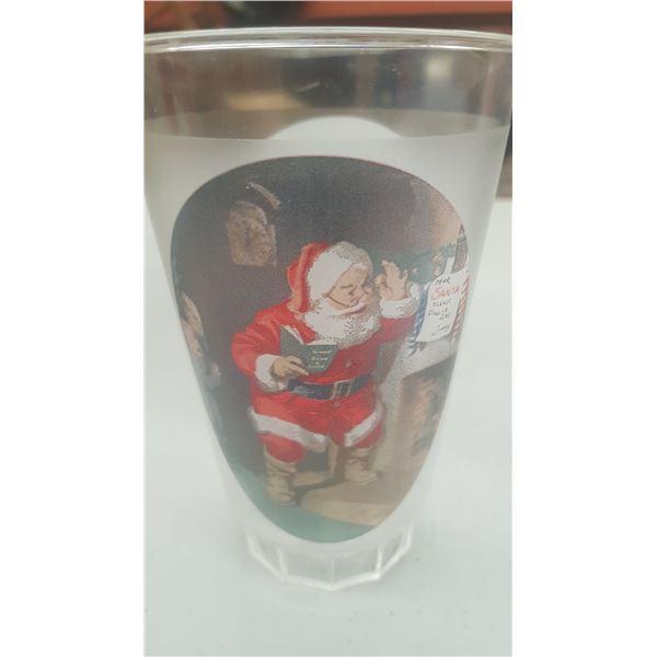 SET OF 4 PLASTIC COCA COLA HOLIDAY CUPS
