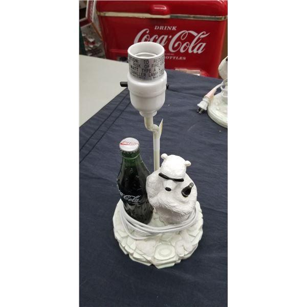 POLAR BEAR COCA COLA LAMP
