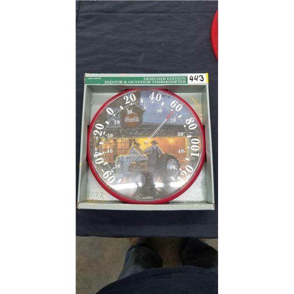 COCA COLA DESIGNER EDITION INDOOR / OUTDOOR THERMOMETER