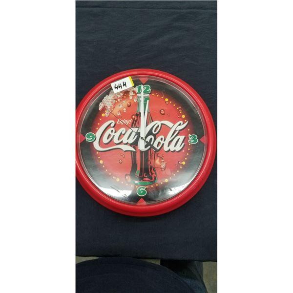 """COCA COLA WALL CLOCK 14"""" DIAMETER"""