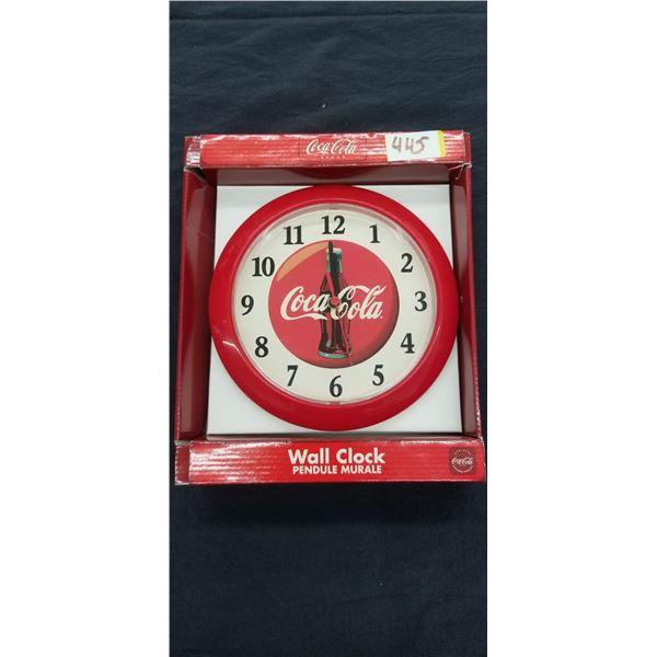 """COCA COLA WALL CLOCK 8.5"""" DIAMETER"""
