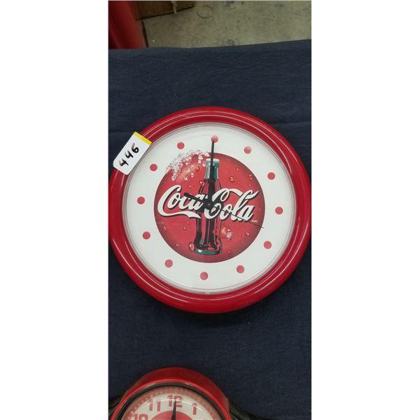"""COCA COLA WALL CLOCK 10"""" DIAMETER"""