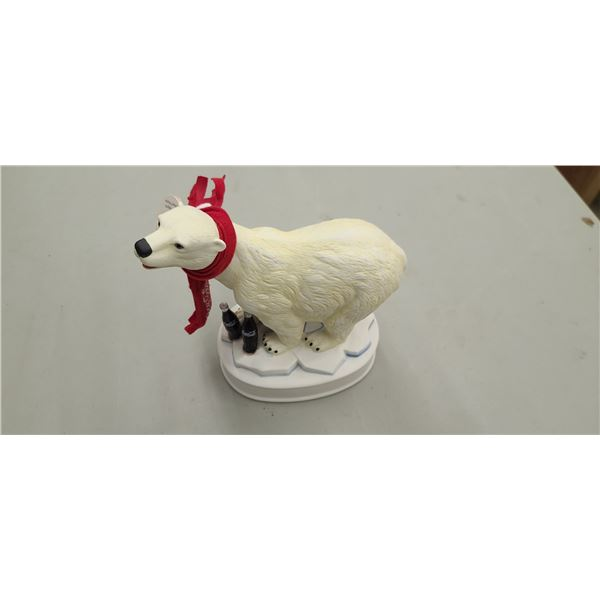 COCA COLA POLAR BEAR STAND WITH DETACHABLE HEAD FOR STORAGE OF CHOICE